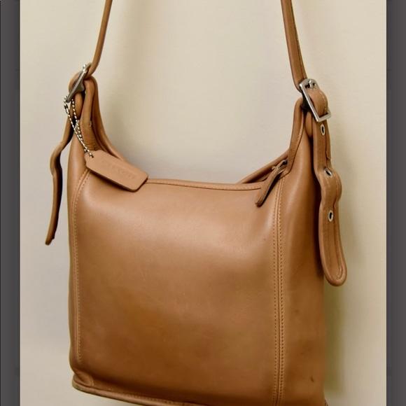 Coach Handbags - vintage coach satchel camel beige EUC